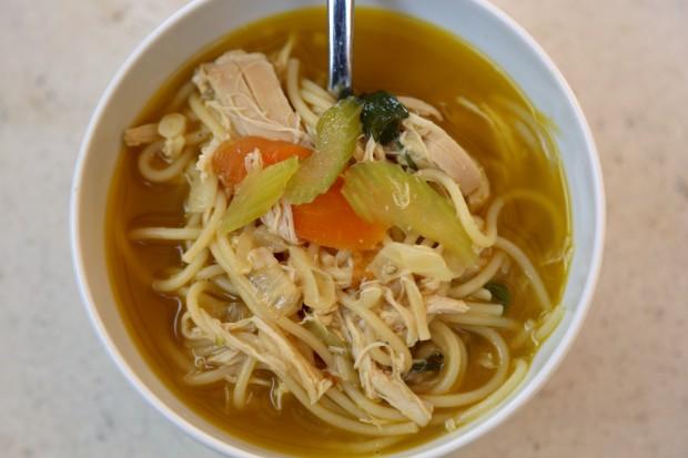 15 minute chicken noodle soup - the sam livecast
