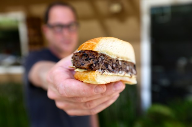 black bean burger - the sam livecast