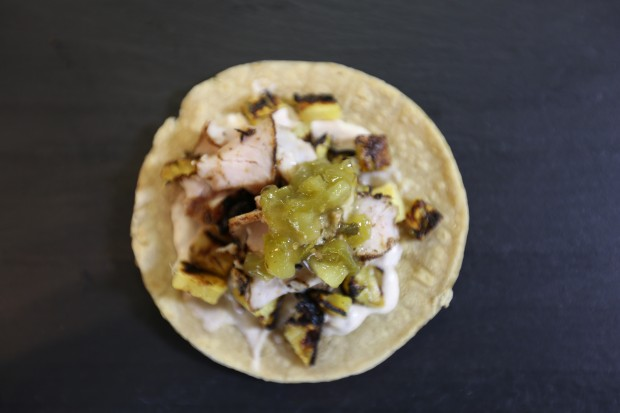 Grilled Pork & Pineapple Tacos - the sam livecast