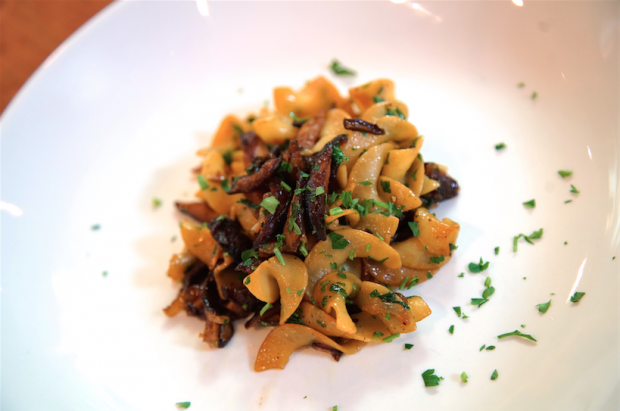 Pasta with Shiitakes & Onion - the sam livecast