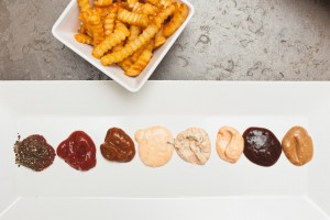 the sam livecast - fries and dipping sauces
